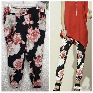 Black Label by Chico's Floral Ankle Pants | 6